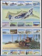 Kiribati 1993 World War II 2x10v M/s, (Mint NH), Transport - Ships And Boats - Aircraft & Aviation - History .. - WO2
