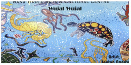 (ED 39) Postcard - Australia - Aborihinal Art By Wuja Wujal (with Stamp) Tortoise Etc - Aborigènes