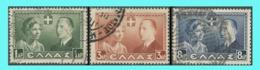 GREECE- GRECE - HELLAS 1938: Royal Wedding Compl.set Used - Grèce