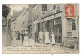 28 GALLARDON RUE DES ECRASNES MAGASIN DOCKS DE LA BRIE 1911 CPA 2 SCANS - Autres Communes
