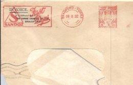 POSTMARKET  INGLATERRA  1932  BRADFORD - Química