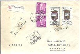 CARTA CERTIFICADA  1963  RONDA - 1931-Hoy: 2ª República - ... Juan Carlos I