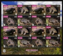 Guyana 2016  Wwf Animals Klb 16v MNH - Neufs