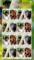 Gambia 2016  Wwf Monkeys Klb 16v MNH - Ungebraucht