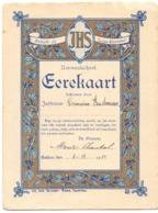Erekaart Germaine Vandamme - Normaalschool Eeklo 1922 - Diplômes & Bulletins Scolaires