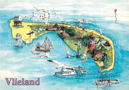 73517582 Vlieland Touristische Karte Leuchtturm Moewen Vlieland - Niederlande