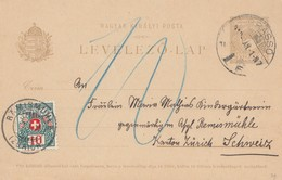 Ungarn: 1912: Ganzsache In Die Schweiz - Hungary