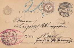 Ungarn: 1901: Ganzsache Budapest Nach Wien - Hongrie