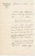 Lettre Du Sous-préfet D'Hazebrouck Au Maire De Cassel, 5/4/1913 - Documentos Históricos