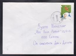 REPUBLIC OF MACEDONIA, 2002, COVER, MICHEL 256 - WORLD CUP SOUTH KOREA JAPAN - 2002 – Corea Del Sud / Giappone