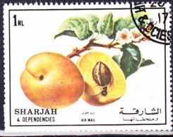 Sharjah - Pfirsich (MiNr. 1222) 1972 - Gest Used Obl - Sharjah