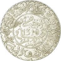 Monnaie, Maroc, Moulay Al-Hasan I, 2-1/2 Dirhams, 1892, Paris, TTB+, Argent - Maroc