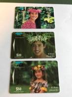 Cook Island - Set With 3 Phonecards - Cookeilanden
