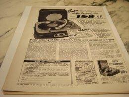 ANCIENNE PUBLICITE ENFIN UN BON ELECTROPHONE   1960 - Music & Instruments