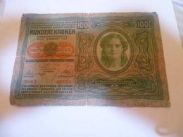 Billet Autriche : 100 Kronen 1912 - Austria