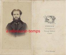 CDV  Mode Second Empire-homme -notable--photo Dubosq Passage Bellivet à Caen - Antiche (ante 1900)