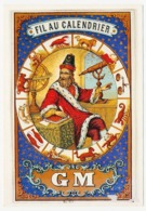 CPSM / CPM 10.5 X 15 Astrologie  Horoscope NOSTRADAMUS Et Les 12 Signes Du Zodiaque Vers 1850 Etiquette De Fil à Coudre* - Astrología