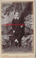CDV  Jeune Garçon, Décor Montagne-photo Gevrey à Paris - Old (before 1900)