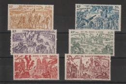 Inde 1946 Série Tchad Au Rhin PA 11 à 16 , 6 Val ** MNH - Indië (1892-1954)