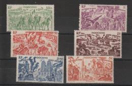 Indochine 1946 Série Tchad Au Rhin PA 40 à 45 , 6 Val ** MNH - Poste Aérienne