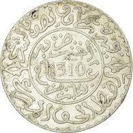 Monnaie, Maroc, Moulay Al-Hasan I, 2-1/2 Dirhams, 1892, Paris, TTB, Argent, KM:6 - Maroc
