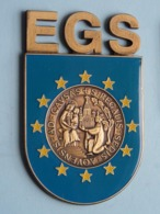 EGS Ad : Causas + S : Regalis : Sedis : Aqvensis ( IDENTIFY ) Zie Foto's Voor Detail ( +/- 8,5 X 5,5 Cm.) ! - Tokens & Medals