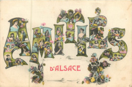 Régions Alsace :  Amitiés D' Alsace    Réf 7398 - Alsace