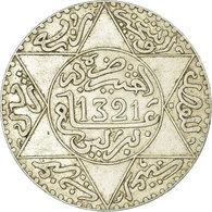 Monnaie, Maroc, 'Abd Al-Aziz, 1/4 Rial, 2-1/2 Dirhams, 1903, Berlin, TTB - Maroc