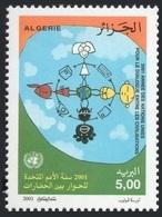 ALGERIA ALGERIE 2001 - DIALOGUE DIALOG DIALOGO AMONG CIVILIZATIONS CIVILISATIONS JOINT ISSUE - RARE MNH - Emissions Communes