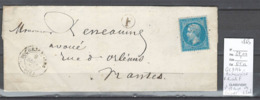 France - GC3176 - Rocheserviere - Boite Rurale F - IDENTIFIEE SAINT ETIENNE DE CORCOUE - Loire Inférieure 1865 - Postmark Collection (Covers)