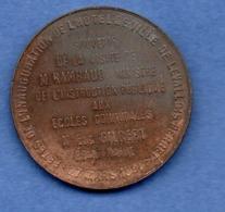 Médaille -- Inauguration De L Hôtel De Ville De Levallois Perret  -  27 Mars 1898   -  état  SUP - Frankrijk