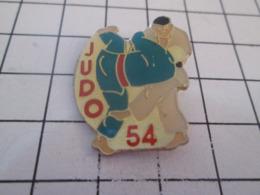 319 Pin's Pins : BEAU ET RARE : Thème SPORTS / CLUB DE BAGARRE EN PYJAMA JUDO 54 - Judo