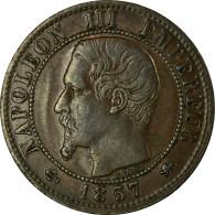 Monnaie, France, Napoleon III, Centime, 1857, Lyon, TB+, Bronze, Gadoury 86 - France