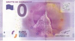 Billet Touristique 0 Euros Grotte De Choranche UEEP001103 - Specimen