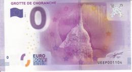 Billet Touristique 0 Euros Grotte De Choranche UEEP001104 - Specimen