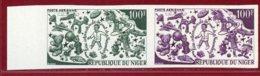 Niger 1969 #C113, Color Proof Pair, Int'l Toy Fair - Níger (1960-...)