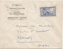 SURTAXE 5FR JEANNE D'ARC SEUL LETTRE PARIS 2.1.1947 TRES RARE - Poststempel (Briefe)