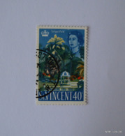 ST. VINCENT 1965. Bicentenary Of Botanic Gardens. 40c. Talipot Palm And Doric Temple. SG 228. Used. - St.Vincent (...-1979)