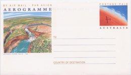 AUSTRALIA - Intero Postale - AEROGRAMME - MITCHELL  RIVER  FALLS  -  CASCATE - Géologie