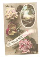 Souvenir De MICHEROUX  - Fleurs,...1919 Envoyé Vers Froidthier  (b266) - Soumagne
