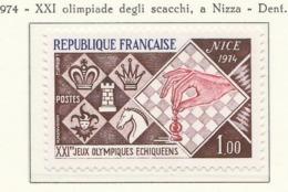 PIA - FRANCIA - 1974 : XXI Olimpiadi Degli Scacchi A Nizza - (Yv 1800) - Scacchi