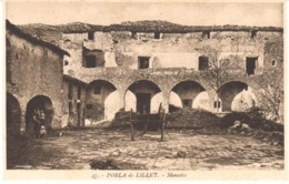 POSTAL    POBLA DE LILLET  -BARCELONA  -MONASTERIO - España