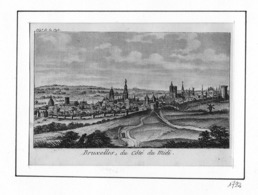 BRUXELLES (Département De La Dyle) Du Côté Du Midi - Gravure Originale XVIIIe Siècle - Prenten & Gravure