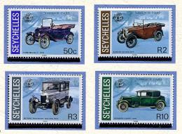 Seychelles ** N° 591 à 594 - Voitures Anciennes - - Seychelles (1976-...)