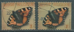 België OBP Nr: 4321 + 4321a Gestempeld / Oblitérés - Vlinders - Gebraucht