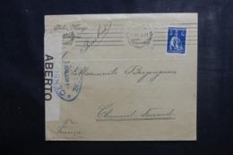 PORTUGAL - Enveloppe Commerciale De Lisbonne Pour La France Avec Contrôle Postal, Affranchissement Plaisant - L 44997 - 1910-... République
