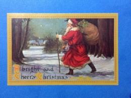 CARTOLINA FORMATO PICCOLO VIAGGIATA BUON NATALE A BRIGHT AND CHEERY CHRISTMAS - Altri