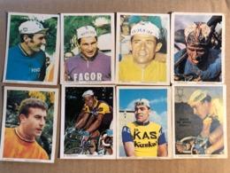 8 Chromos / Cards Monty -  Cyclists - Cyclisme - Ciclismo - Wielrennen