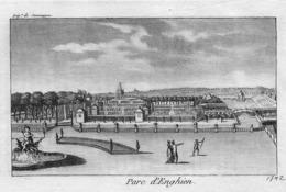 PARC D'ENGHIEN (Département De Jemmappes) - Gravure Originale XVIIIe Siècle - Prenten & Gravure