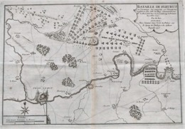 BATAILLE DE FLEURUS - Gravure Originale De 1715 - Estampes & Gravures